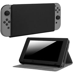 Fintie Nintendo Switch Case - [Multi-Angle Viewing] Ultra Slim Vegan Leather Play Stand Cover with Elastic Strap for Nintendo Switch 2017