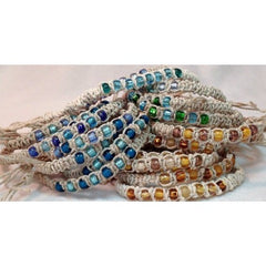 Hemp Beaded Anklet or Bracelet