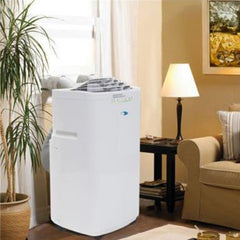 11000 BTU Eco-Friendly and CFC and Lead-Free Dual Hose Portable Air Conditioner with RoHS-Compliant Components
