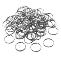 Nickel Plated Silver Steel Round Edged Split Circular Keychain Ring Clips for Car Home Keys Organization, Arts & Crafts, Lanyards (100 Pack) by Super Z Outlet