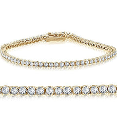 14K Yellow Gold 2 ct Diamond Tennis Bracelet 7