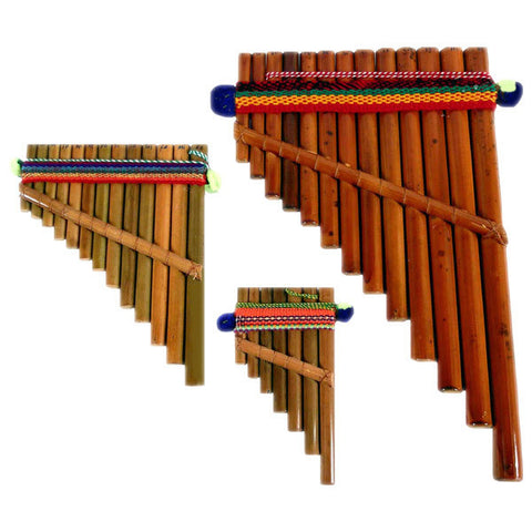 "Pan Flute # 2 Medium 6"" Andean Musical Instrument Packaged"