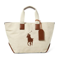 Polo Ralph Lauren - Cotton-Jute Big Pony Tote