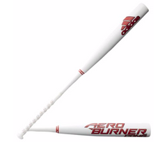 ADIDAS AEROBURNER COMP BBCOR BASEBALL BAT -3 - MEN'S - WHITE/RED