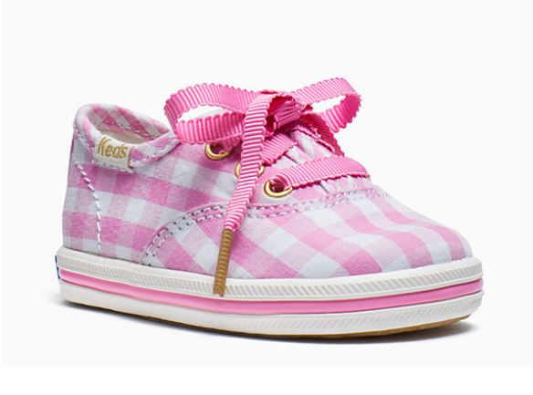 Keds Kids x Kate Spade New York Champion Gingham Crib Sneakers