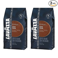 Lavazza Super Crema Espresso - Whole Bean Coffee (Pack of 2)