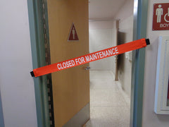 Closed For Maintenance Signs with Magnetic Ends
