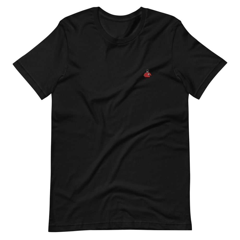 Black and Red Silhouette Short-Sleeve T-Shirt