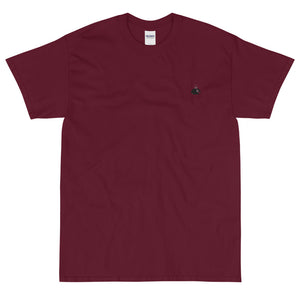 Maroon and Black Silhouette Short-Sleeve T-Shirt