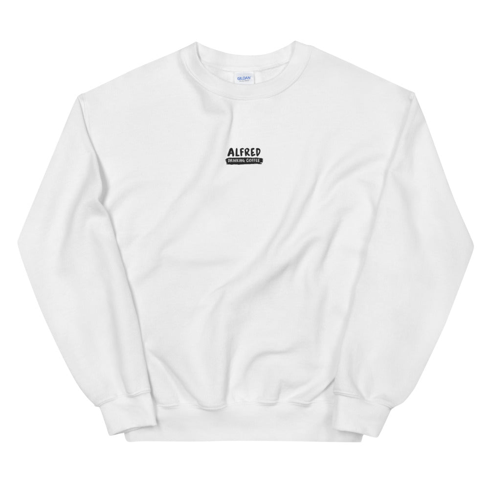 Alfred Drinking Coffee Sweatshirt