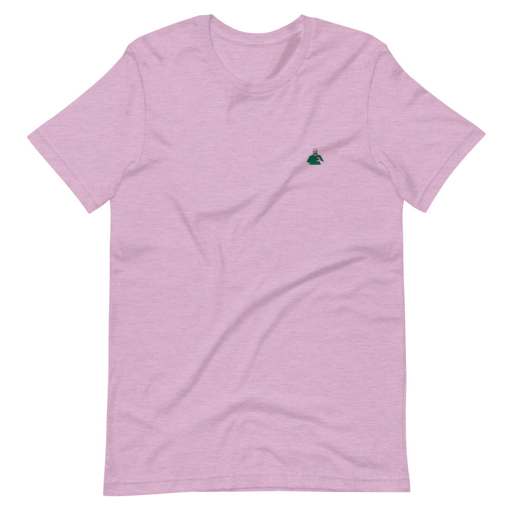 Lilac and Green Silhouette Short-Sleeve T-Shirt