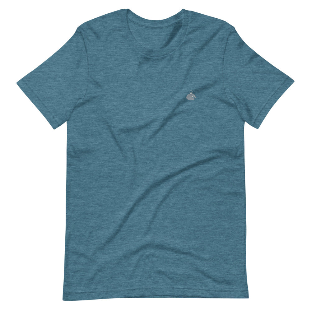 Teal and Grey Silhouette Short-Sleeve T-Shirt