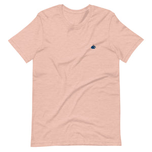 Peach and Blue Silhouette Short-Sleeve T-Shirt