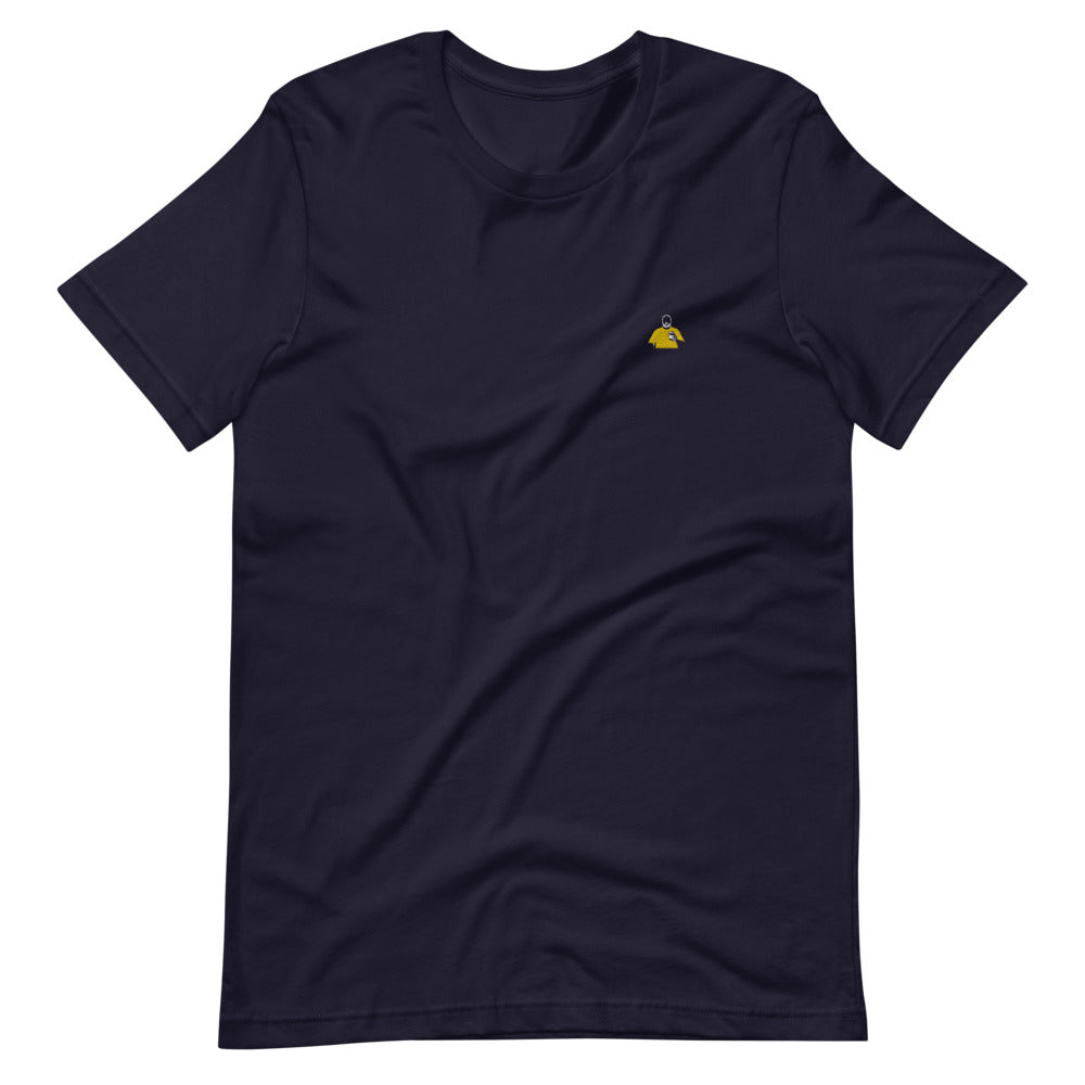 Navy and Yellow Silhouette Short-Sleeve T-Shirt
