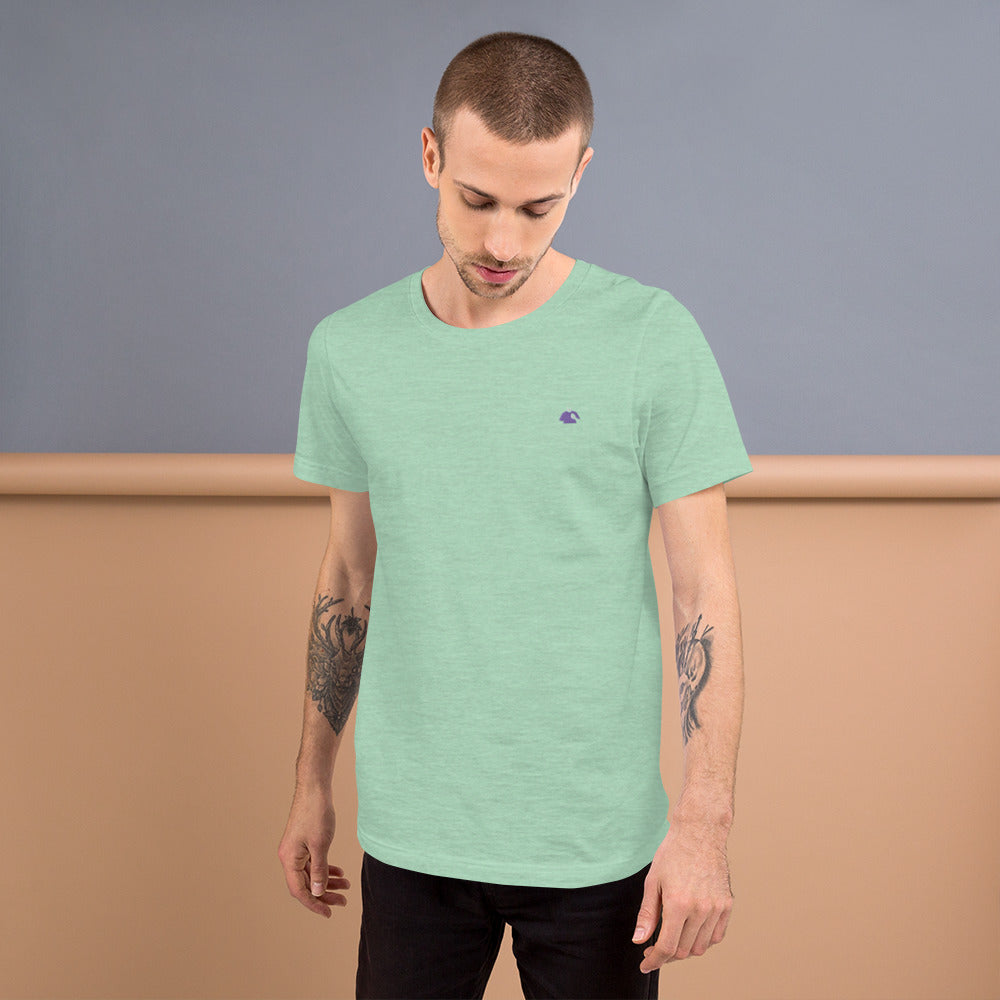 Mint Green and Purple Silhouette Short-Sleeve T-Shirt