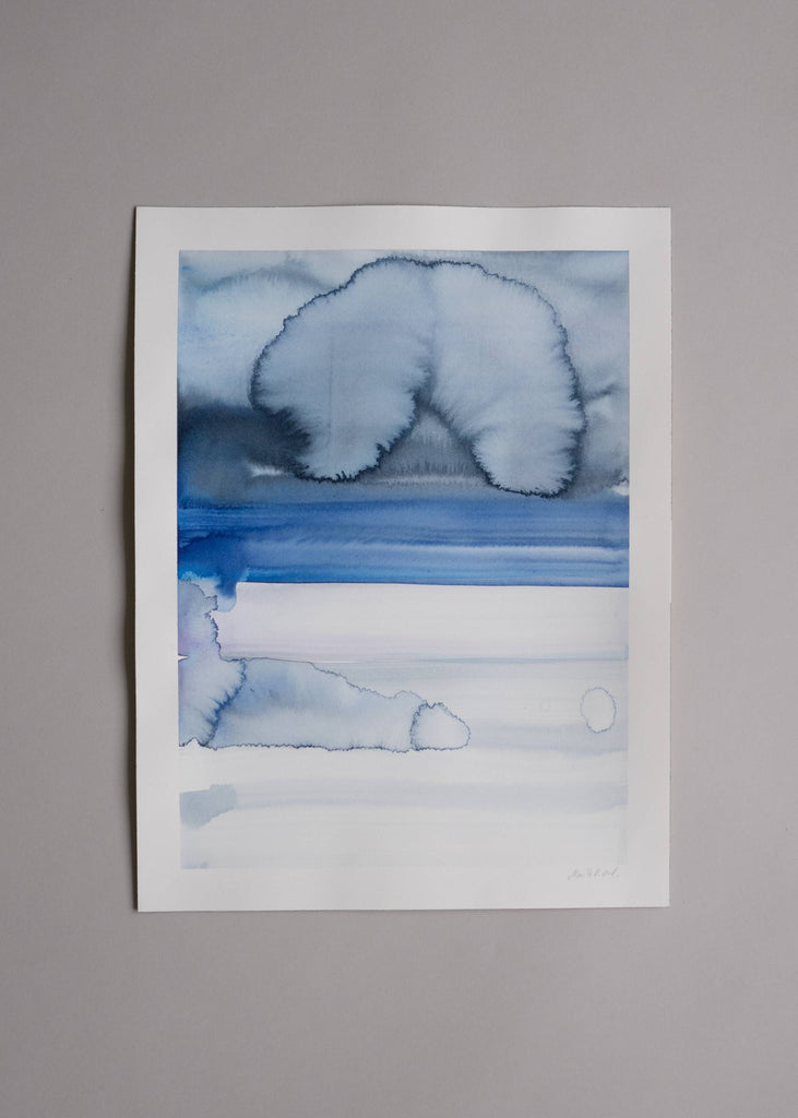 Marika Vaccino Andersson Cloud Studies Painting Blue