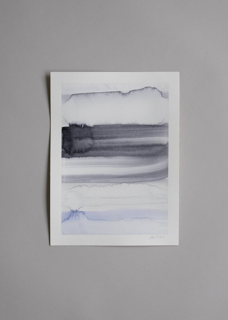 Marika Vaccino Andersson Painting Artwork Cloud Studies Grey