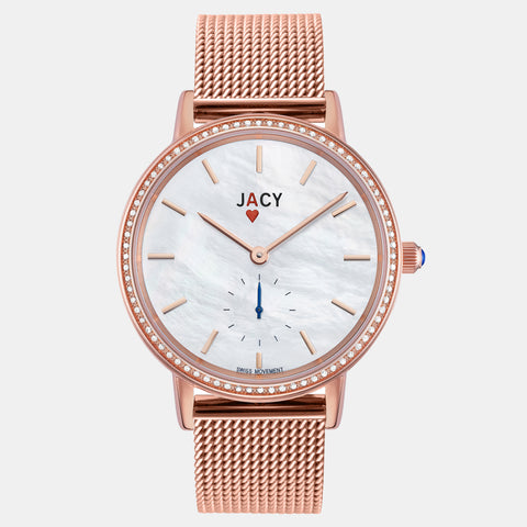 <strong>The ACE</strong> <br>rose gold / milanese bracelet