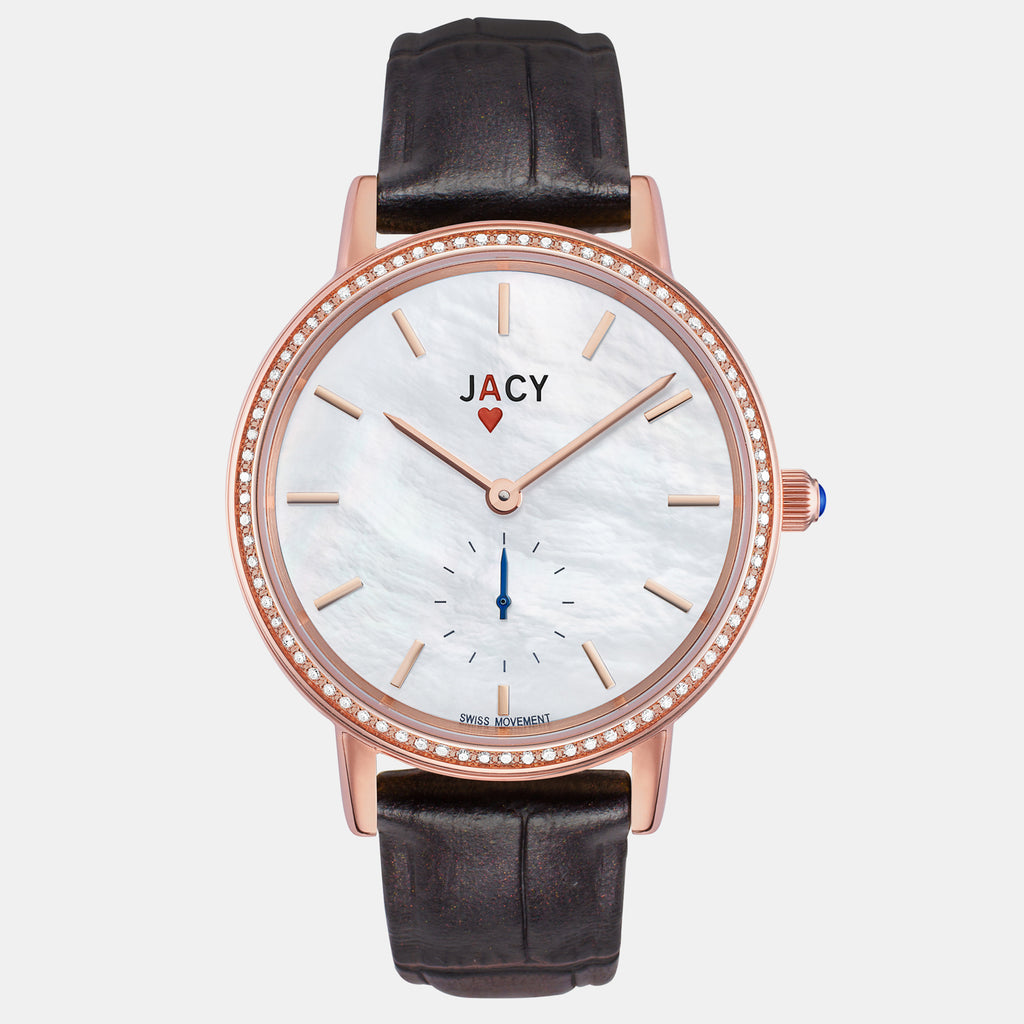 <strong>The ACE</strong> <br>rose gold / pearlized brown croco