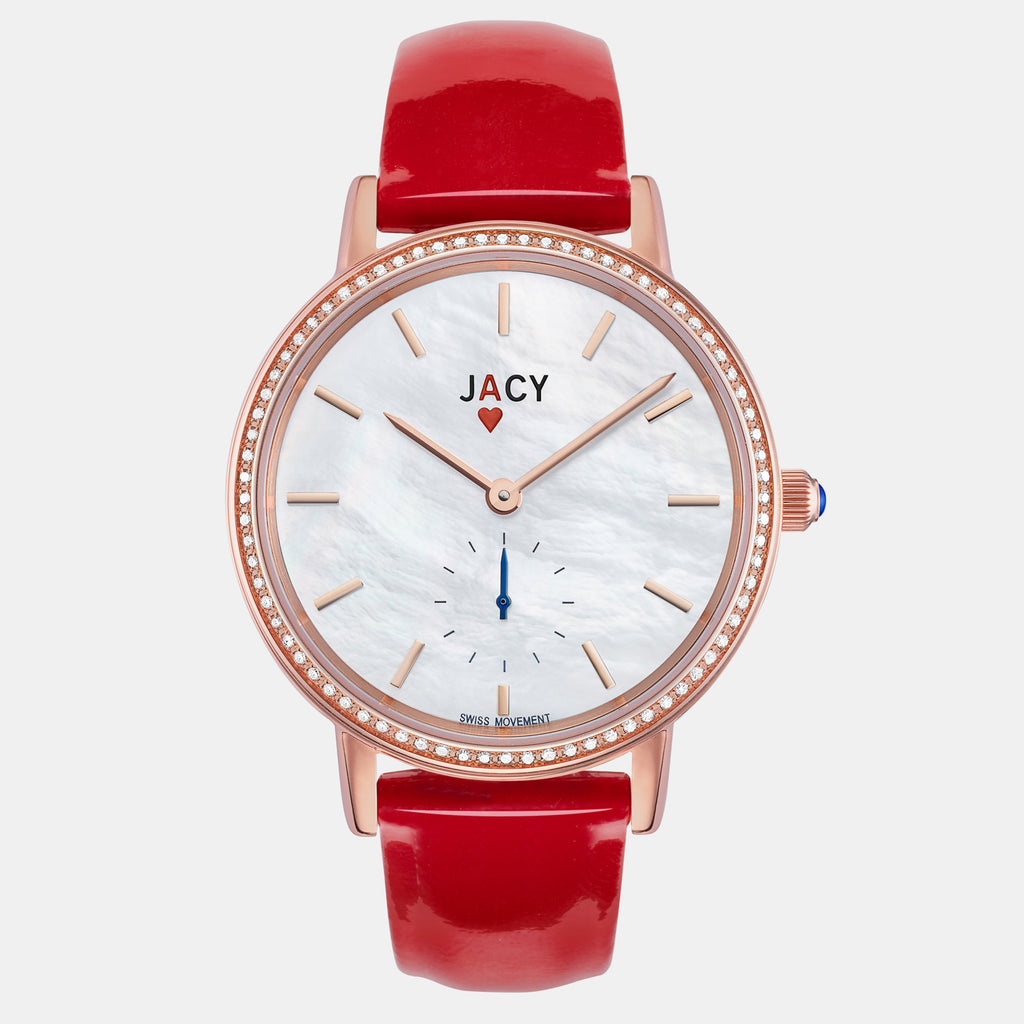 <strong>The ACE</strong> <br>rose gold / red patent