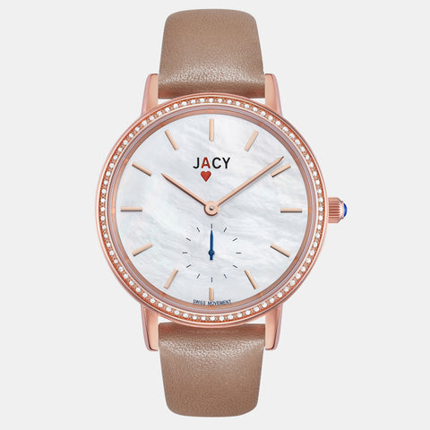 <strong>The ACE</strong> <br>rose gold / tan full grain