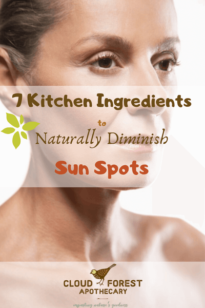 7 Kitchen Ingredients for Getting Rid of Sun Spots Naturally