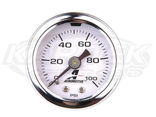 "Aeromotive 0-100 psi Fuel Pressure Gauge 1/8"" NPT"