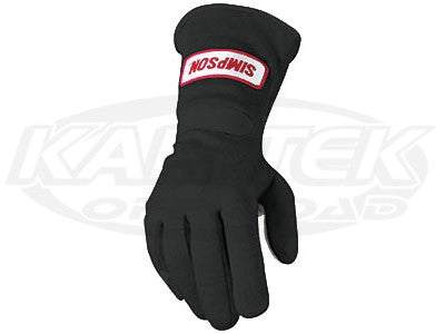 Simpson Sportsman Grip Black Driving Gloves Medium