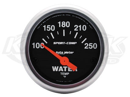 "Sport-Comp 2-1/16"" Short Sweep Electrical Gauges Oil Pressure 0-100 PSI"