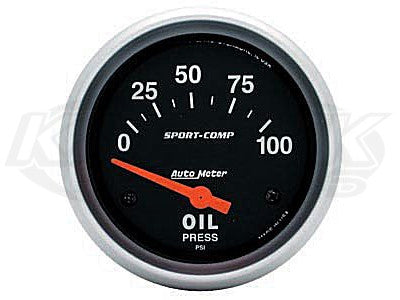 "Sport-Comp 2-5/8"" Short Sweep Electrical Gauges Oil Temperature 100_F - 250_F"