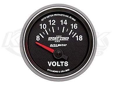 "Sport-Comp II 2-1/16"" Short Sweep Electric Gauges Oil Pressure 0-100 PSI"