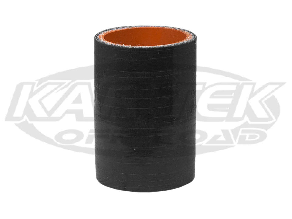 "4-Ply Black Silicone Turbo Or Water Line Coupler Hose 1-1/4"" Inside Diameter 1-5/8"" Outside Diameter"