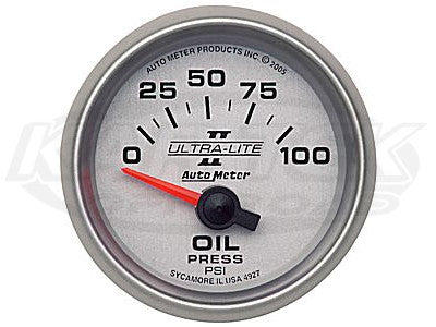 "Ultra-Lite II 2-1/16"" Short Sweep Electric Gauges Fuel Level (0 ? Empty/90 ? Full)"
