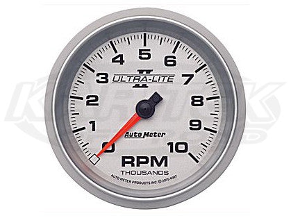 "Ultra-Lite II 3-3/8"" In-Dash Tachometer 10,000 RPM"