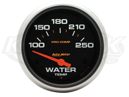 "Pro-Comp 2-5/8"" Short Sweep Electric Gauges Oil Temperature 140_F - 300_F"