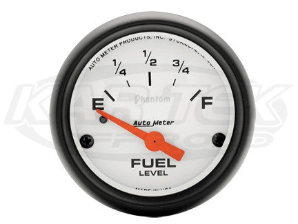 "Phantom 2-1/16"" Short Sweep Electric Gauges Fuel Level (73 ? Empty/10 ? Full)"