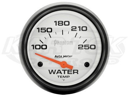 "Phantom 2-5/8"" Short Sweep Electric Gauges Water Temperature 100_F - 250_F"