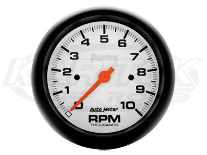 "Phantom 3-3/8"" In-Dash Tachometer 10,000 RPM"