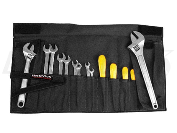 MasterCraft Small Wrench Roll-Up Black 16 Pocket