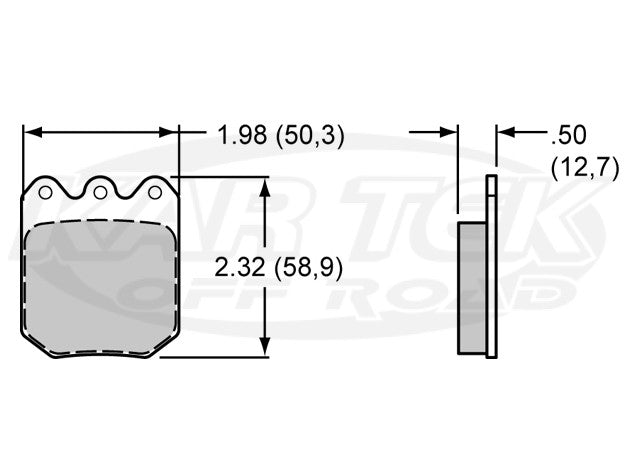 "ProAm 6812 Series 2"" Brake Pads PolyMatrix E"