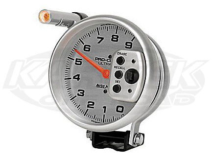 "Ultra-Lite 5"" Pedestal Mount Tachometer 11,000 RPM w/ 2 Stage Shift Light & Memory"