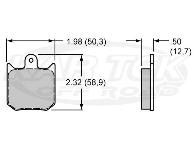 Wilwood 7012 Dynalite Brake Pads BP-20 Smart Pad