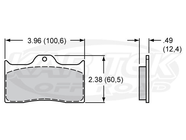 "ProAm 7112 Series 4"" Brake Pads PolyMatrix E"