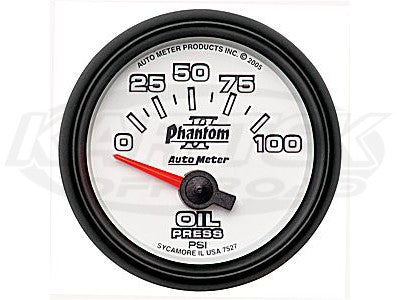 "Phantom II 2-1/16"" Short Sweep Electric Gauges Fuel Level (240 ? Empty/33 ? Full)"