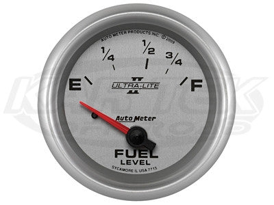 "Ultra-Lite II 2-5/8"" Short Sweep Electric Gauges Fuel Level (240 ? Empty/33 ? Full)"