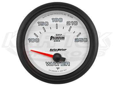 "Phantom II 2-5/8"" Short Sweep Electric Gauges Oil Pressure 0-100 PSI"