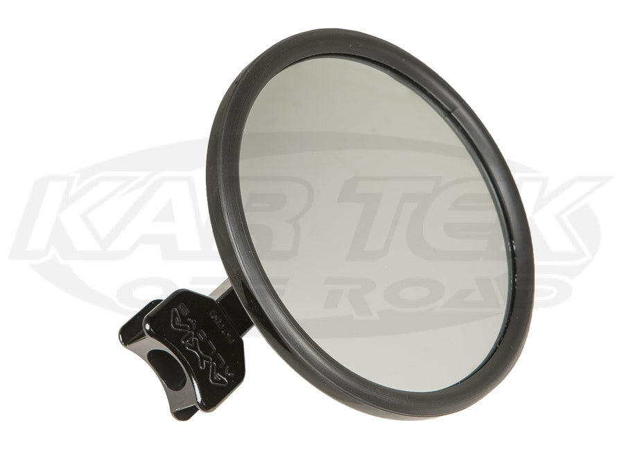 "Axia Alloys 5"" Round Convex Billet Arm Side Mirror Clear Anodized"
