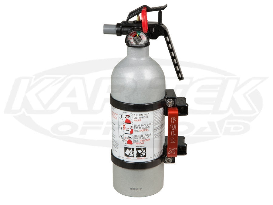 Axia Alloys Quick Release Fire Extinguisher Mount with 2lbs. Extinguisher Clear Anodized