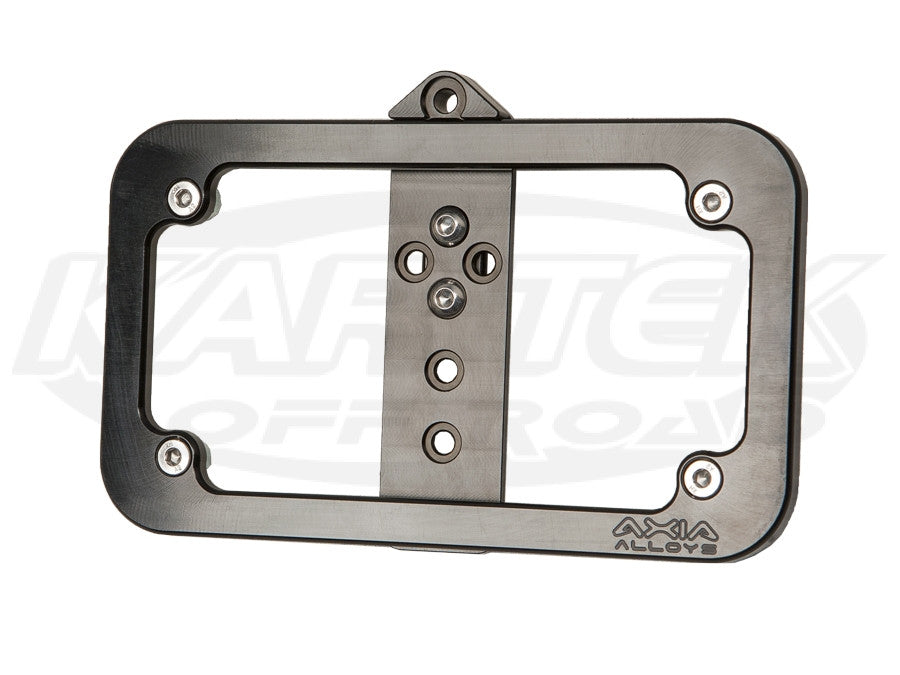 Tube Mounted LED License Plate Frame Black