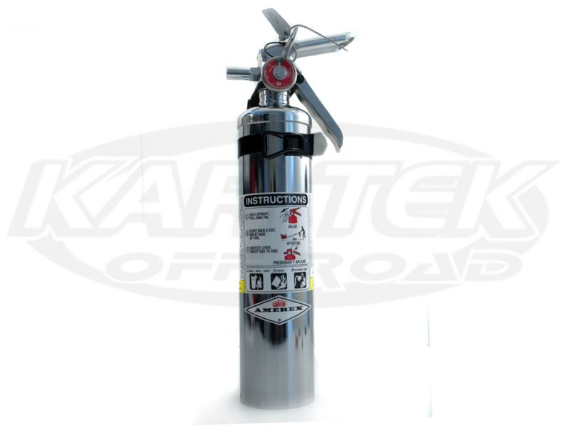 Amerex Chrome Fire Extinguisher 2.5 Lbs Regular Dry Chemical Extinguisher Class A:B:C
